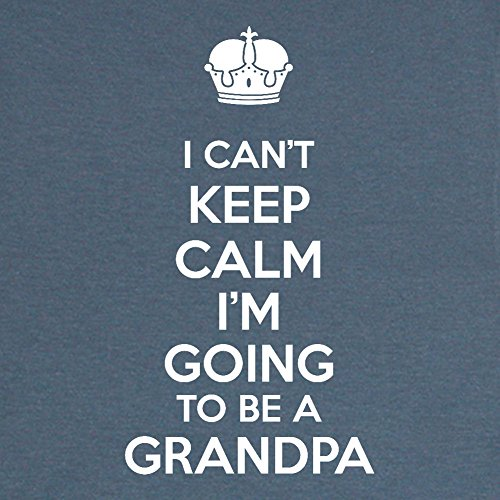 Mama Birdie I Can't Keep Calm I'm Going To Be A Grandpa Adult T-Shirt (Indigo, Large)