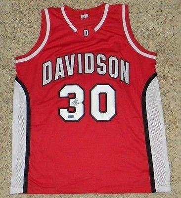 6b2eb0245e69 Stephen Steph Curry Signed Autographed Davidson Wildcats  30 Basketball  Jersey - Autographed College Jerseys at Amazon s Sports Collectibles Store