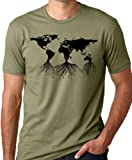 Earth Roots Environmental T-Shirt Remember Your Roots Olive S