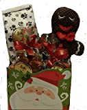 Jagger's Doggy Deli Christmas Pet Dog Gift Basket with 9 inch Gingerbread Man Toy