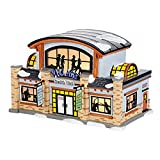 Department 56 Snow Village Health Club Ceramic Lighted Building #4036568