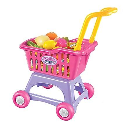 Gracioso Trolley, Casa de Juegos para niños Juguete para niñas 3-6 años Supermercado