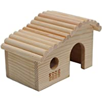 POPETPOP Linda casa hámster Enano casa de Madera Bricolaje Refugio escondite Jaula para pequeños Animales Mascota Rata ratón hámsters Enano Conejillo de Indias