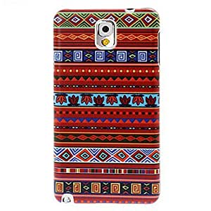 National Style Abstract Geometric Seamless Pattern Plastic Hard Case for Samsung Galaxy Note 3(Pattern B)