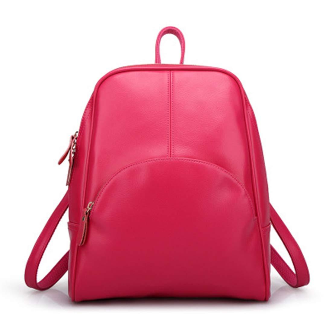 JIANZ-ryggsäck kvinnor flickor crossbody väska äkta läder axelväska handväska axelväska för kvinnor (färg: blå) Rpse röd
