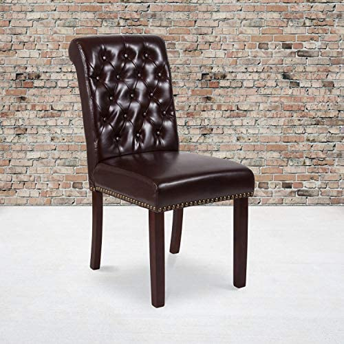 Flash Furniture 2 Pk. HERCULES Series Brown LeatherSoft Parsons Chair Review