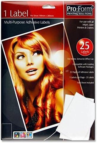 Premier cancelleria Pro Form 10/x 38/mm bianco Sticky label-p 14 x 53 mm