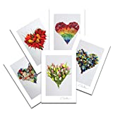 Love - Sea Glass Hearts Postcard