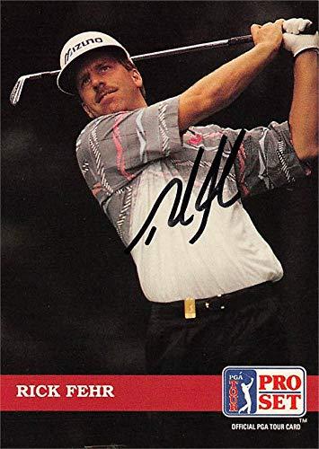 Rick Fehr autographed trading card (Golf, PGA Tour, BYU Cougars, SC) 1992 Pro Set #120 Autographed Golf Equipment