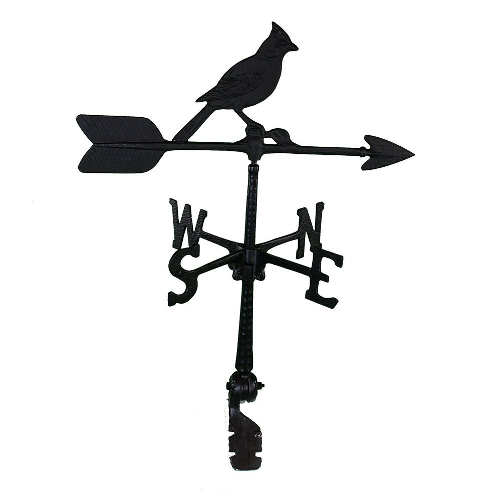 Montague Metal Products 24-Inch Weathervane with Cardinal Ornament WV-125
