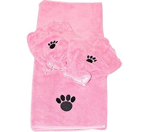 Pamper Your Pet Microfiber Towel & Mitt Set by Campanelli Products (Pamper Your Pet Microfiber Towel & Mitt Set, Pink)