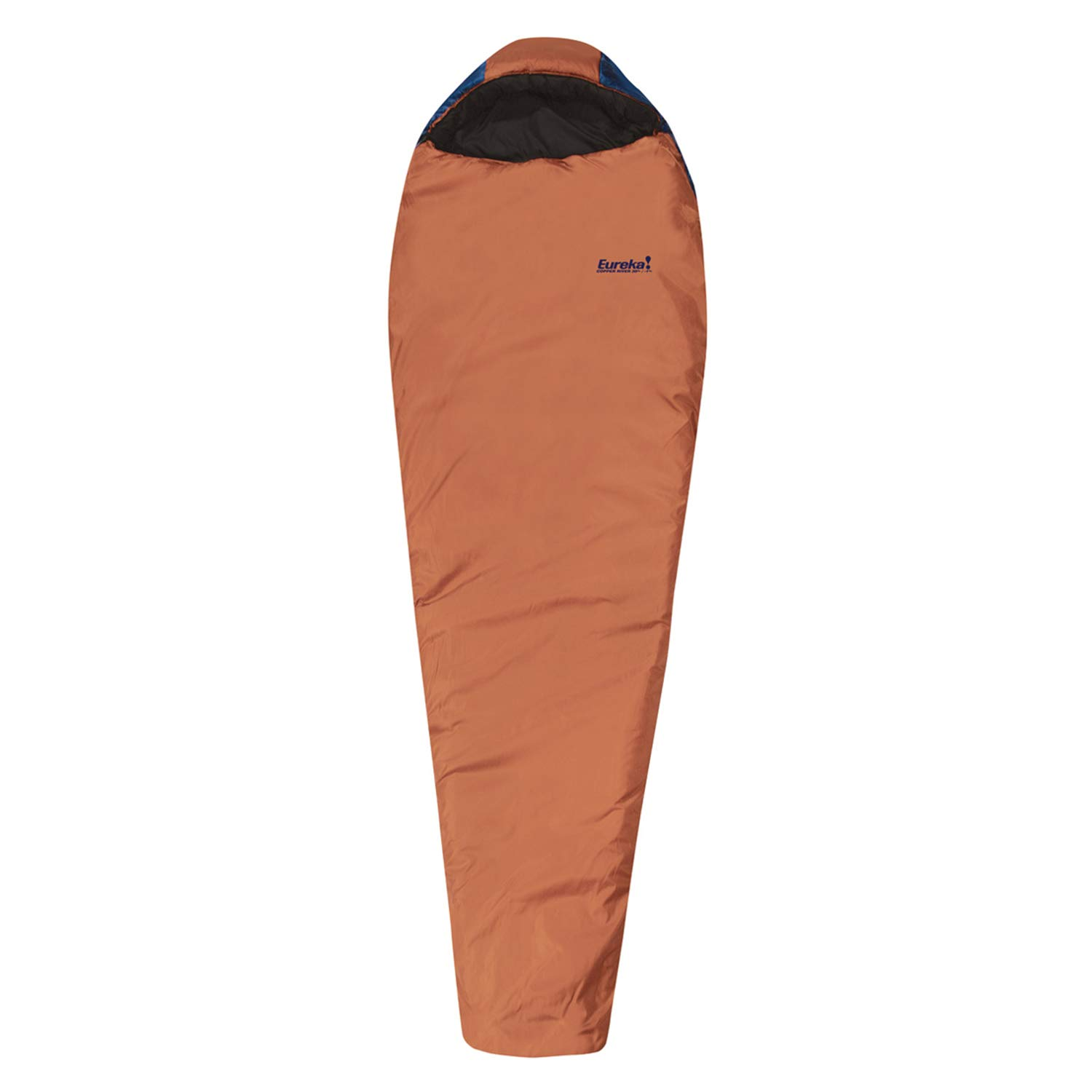 Eureka! Copper River 30-Degree, 3-Season Mummy Sleeping Bag, Regular Size, Brown/Blue (3 Pounds 7 Ounces)