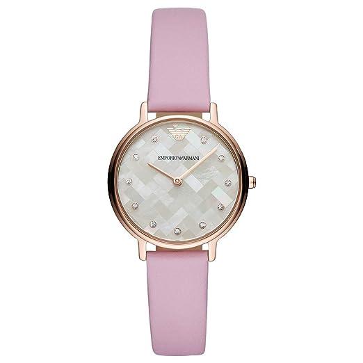 ee2631fe3cf0 Emporio Armani Reloj Analógico para Mujer de Cuarzo con Correa en Cuero  AR11130  Amazon.es  Relojes