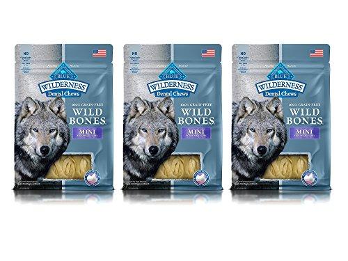 t of 3 Blue Wilderness Dental Chews Mini Size Wild Bones bundled by Maven Gifts (Super White Tearless Shampoo)