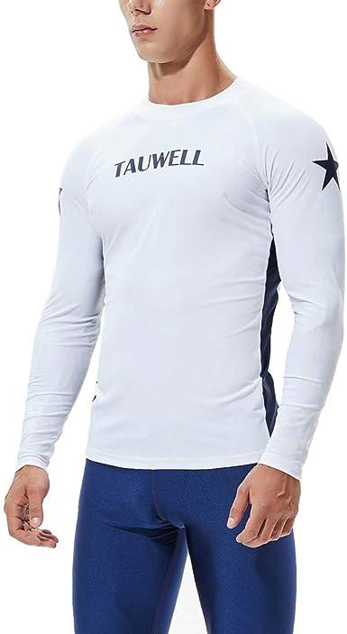 Traje de Neopreno Hombre, Camiseta Manga Larga de la natación Hombre Surf Buceo Rash Guard UV