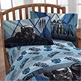 Marvel Black Panther Movie Kids Bedding Twin Sheet Set