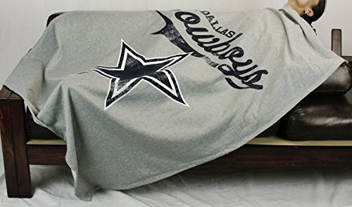 y Dallas Cowboys NFL Sweatshirt Throw Blanket, Grey ()