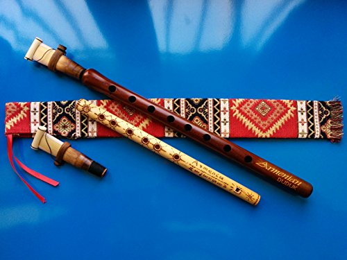 ARMENIAN Engraved DUDUK PRO from Apricot Wood, 2 Reeds, National Case, Playing Instruction and Free Gift Flute by Theodoros301
