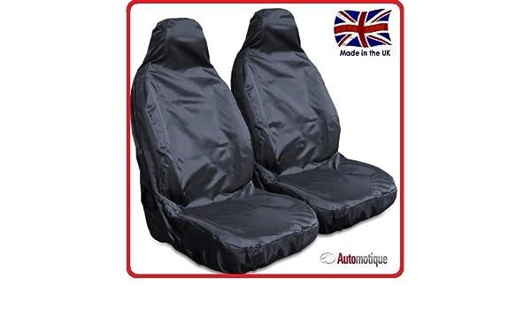 Amazon.es: Fiat Doblo Cargo impermeable cubierta de asiento Van Negro 1 + 1