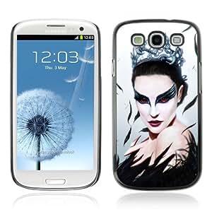 Designer Depo Hard Protection Case for Samsung Galaxy S3 / Black Swan Beautiful Ballerina