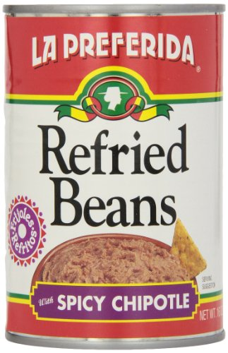 La Preferida Refried Black Beans Chipotle, 16-Ounce (Pack of (La Preferida Refried Beans)