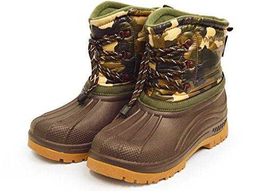 (ゴールデンレトリバー)GOLDENRETRIEVER防水防寒スノーブーツビーンブーツレインシューズメンズ靴長靴25cm(24.5cm-25cm相当)Camoカモフラージュ迷彩柄
