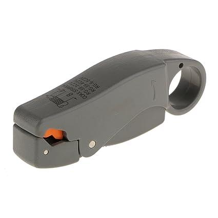 Coaxial Herramienta de Pelado Pelacables Cortador de Cable para RG6 RG59 RG5 TV Satélite