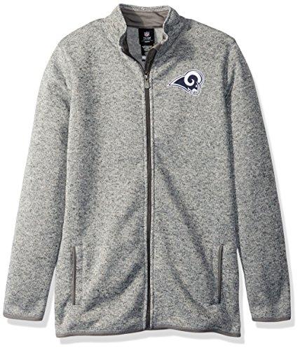 Outerstuff NFL Youth Boys Lima Full Zip Fleece Jacket-Cool Grey-S(8), Los Angeles Rams