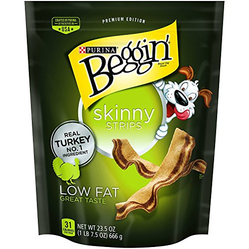 Purina Beggin Skinny Strips Real Turkey Dog Snacks (2) 23.5 Oz. Packages