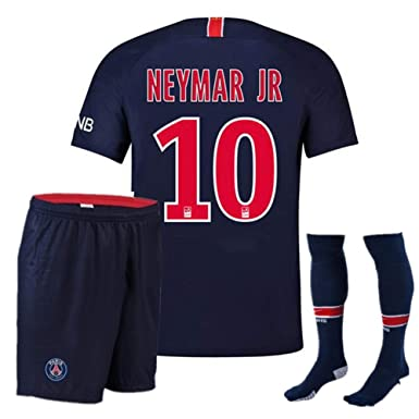 the latest 385fa f9ff2 Neymar JR. 10# Paris Saint-Germain Soccer Jersey for Kids/Youth PSG  2018-2019 Home Jersey+Free Socks