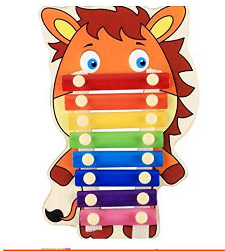 Polymer Musical Toys 8-Tone Chinese Zodiac Infant Child Octave Clappers Piano Percussion(Horse) by Polymer