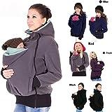 ZEARO Tragejacke Tragetuch Bauchtrage Babywearing Tragepullover Umstandsjacke Fleece