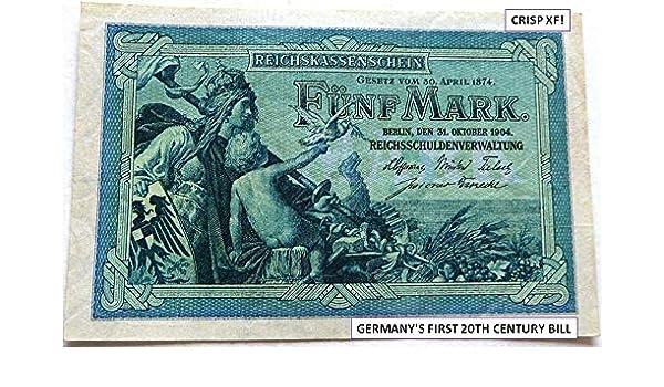 1906 German Empire WW1  20 Mark  Banknote