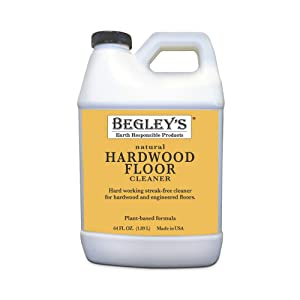 Begley's Best Earth Responsible Natural Plant-Based Hardwood Floor Cleaner, Fresh Citrus Scent, 64 oz