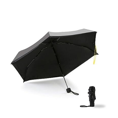 Mini paraguas de bolsillo plegable compacto Sombrilla de viaje anti-UV a prueba de viento