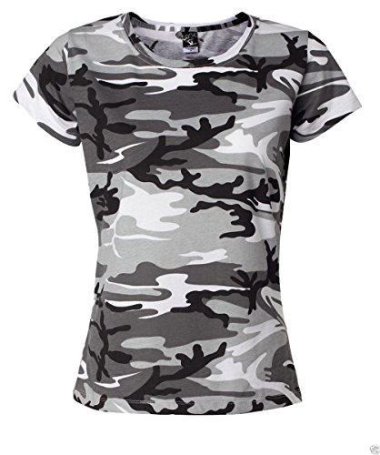 Code V Women's Camouflage Ribbed T-Shirt, Urban Woodland, XX-Large