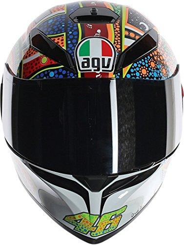 AGV K3 Adult Dreamtime Helmet Street Motorcycle Helmet - White/Orange/Blue / Small/Medium
