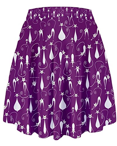 donna Cowcow alta gonna a gatti Purple e vita gattini CRxdwAqrC