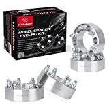 YITAMOTOR 6x5.5 Wheel Spacers for Chevy Silverado, 2 inches Forged Wheel Adapters, 14x1.5 Studs&108mm Bore, for Silverado 1500, Tahoe, Suburban, Avalanche, Blazer, Express, K1500, K2500