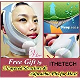 [MADE in KOREA] Anti-aging Wrinkle Free UPLIFT Face Mask Belt ** Brand New Innovative Advanced High Technology ** Only 30~40 minutes wearing to tighten up the face and neck, for lifting up and minimizing the face & neck line. [GRAY] by ALALEXPIA