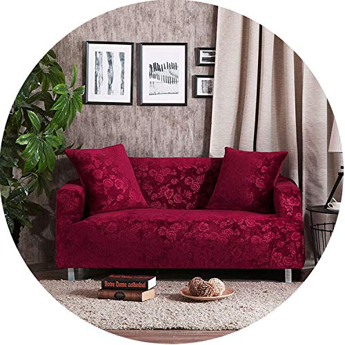 Sofa Cover for Living Room Sofa Cover Solid Color Anti-Dirty Slipcovers,03,Four Seat Cover (Furniture Bunnings 3 Piece Outdoor)