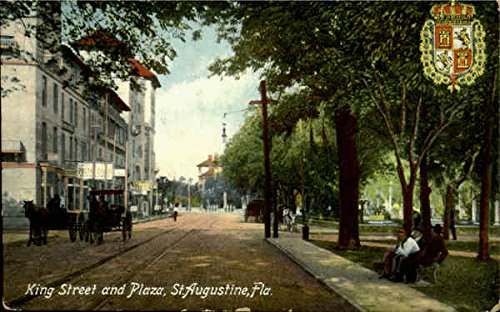 King Street And Plaza St. Augustine, Florida Original Vintage - Plaza Kings