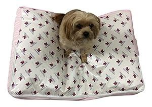 B00ZAF4YQ6LYB PoochPads Dog Bed, Pink, Small/30″ x 21″