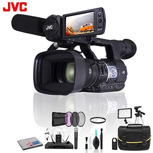 (JVC GY-HM620 ProHD Mobile News Camera +Wireless Remote Shutter, LED Light and More )