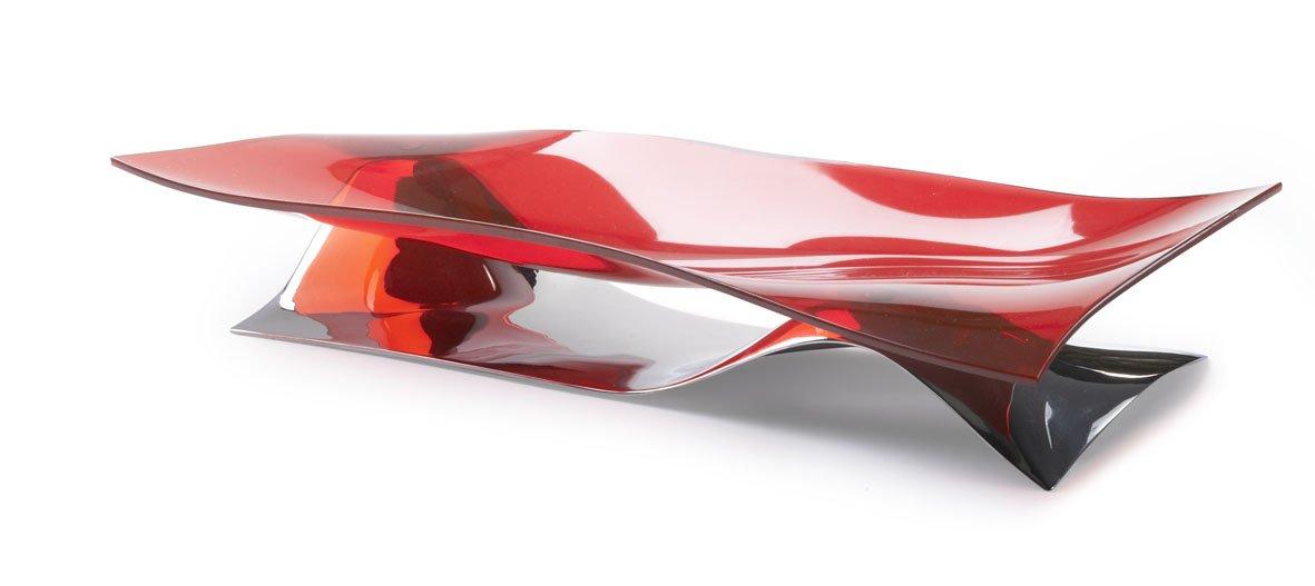 Bugatti - CentrotavolaSoffio Rosso 40X16XH10 21-SOFFIOI3T