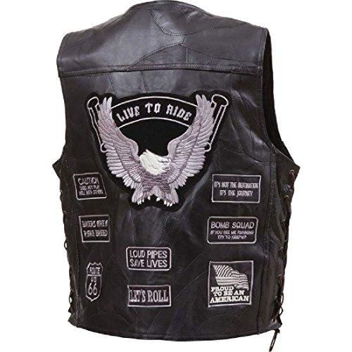 Flag Leather Vest - 8