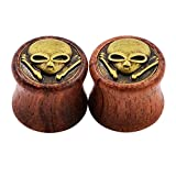 3 4 wooden plugs - Qmcandy 0g-3/4 Pair of Natural Organic Wood Wooden Ear Tunnel Plugs Expander Gauges