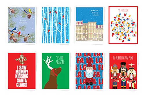 (Apartment 2 Cards 8 Mix Value Pack Assorted Christmas Holiday Premium Greeting Cards - Set of 8)