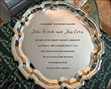 engraved wedding tray perfect wedding gift for couple serving tray personalized serving platter wedding tray