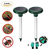 Jiaoly Mole Repeller Waterproof Outdoor Solar Ultrasonic Repellent Rodents Vole Shrew Gopher Rat